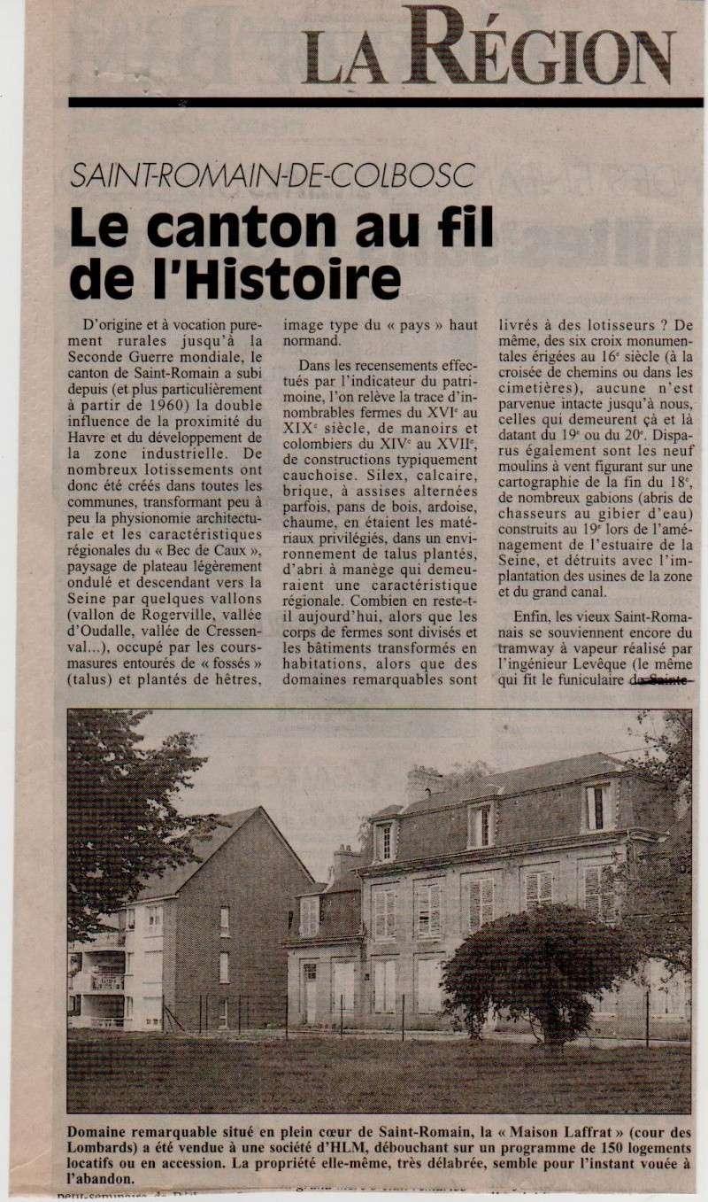 Histoire des communes - Saint-Romain-de-Colbosc Saint-30