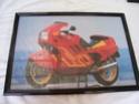 Cuadro de 50x40 con litografia de Moto BMW 100_2324