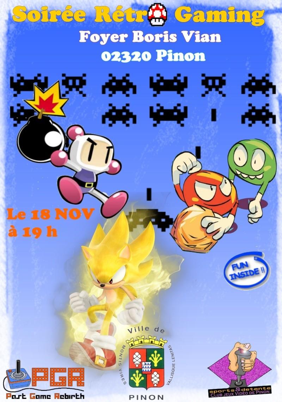 Soirée Rétro gaming le 18 Novembre à PINON Soirae11