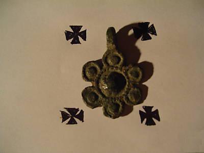 Pinjante circulos formando una flor Pinjan11