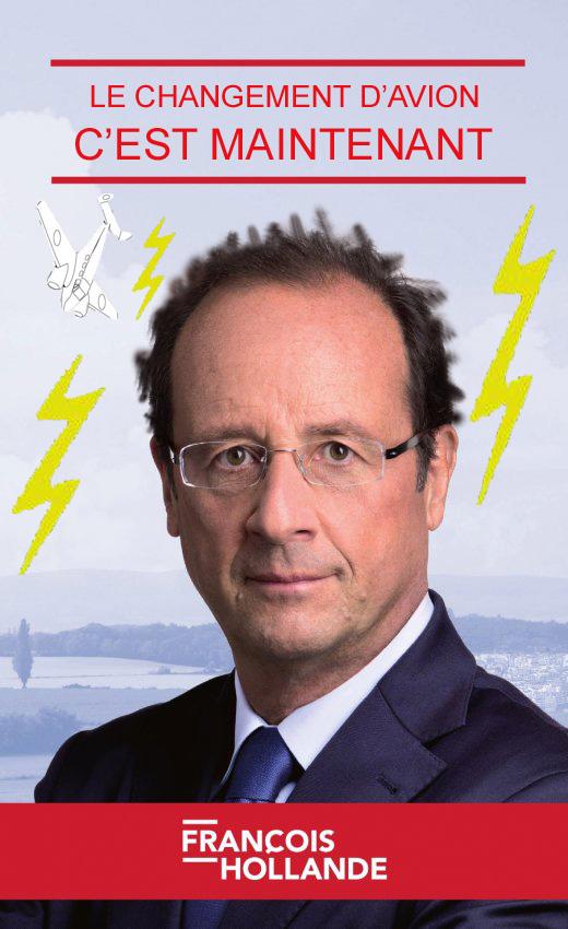 L'avion du Président Hollande prend la foudre en vol, contraint de faire demi-tour...! 12051711