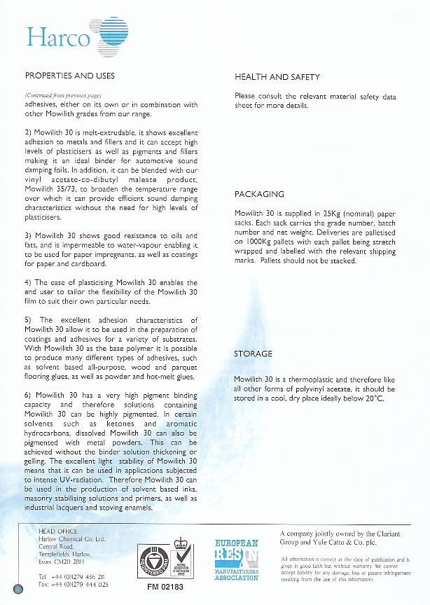 Fiche Technique (retouche) : Mowilith 20 et Mowilith 30 (Harco) Img_0044