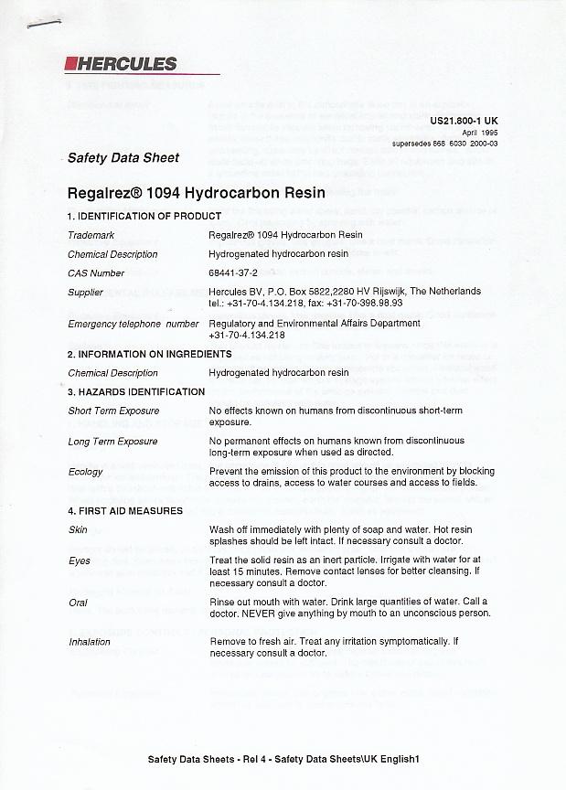 Fiche Technique (vernis) : Regalrez 1094 Hydrocarbon Resin Img_0049