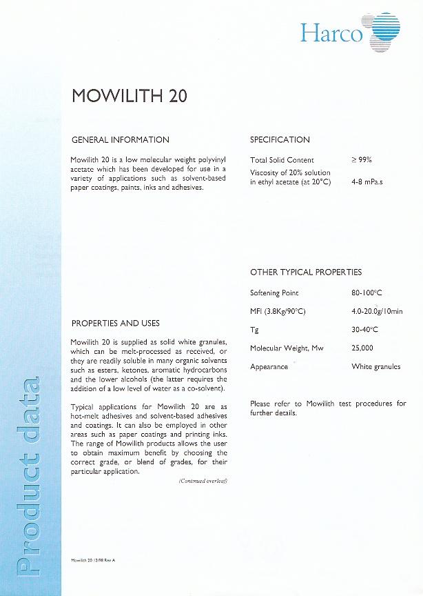 Fiche Technique (retouche) : Mowilith 20 et Mowilith 30 (Harco) Img_ti13