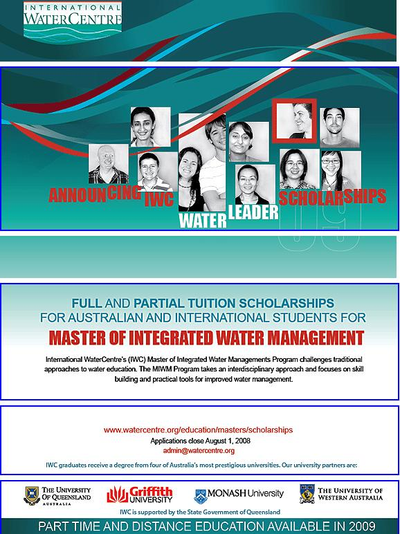 Scholarship for Master of Water Management Ma_wat11