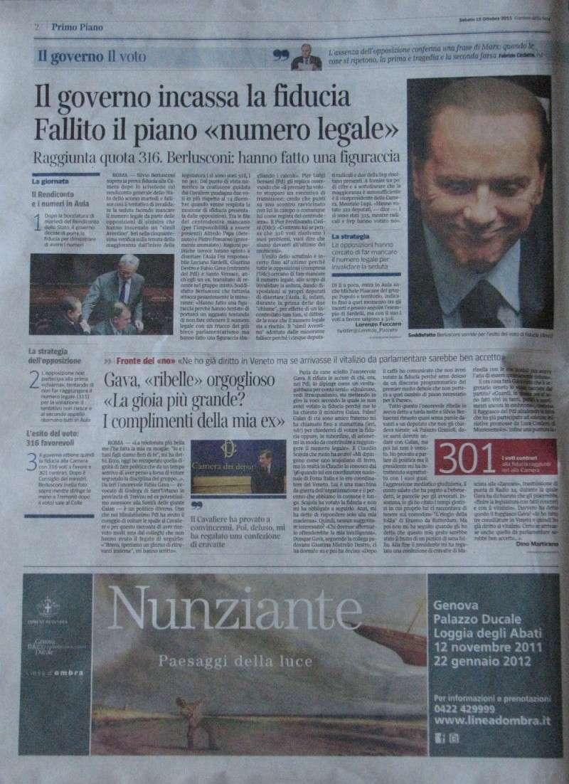 """Sabato 15 Ottobre 2011 """"Corriere della Sera"""" 2011_110"""