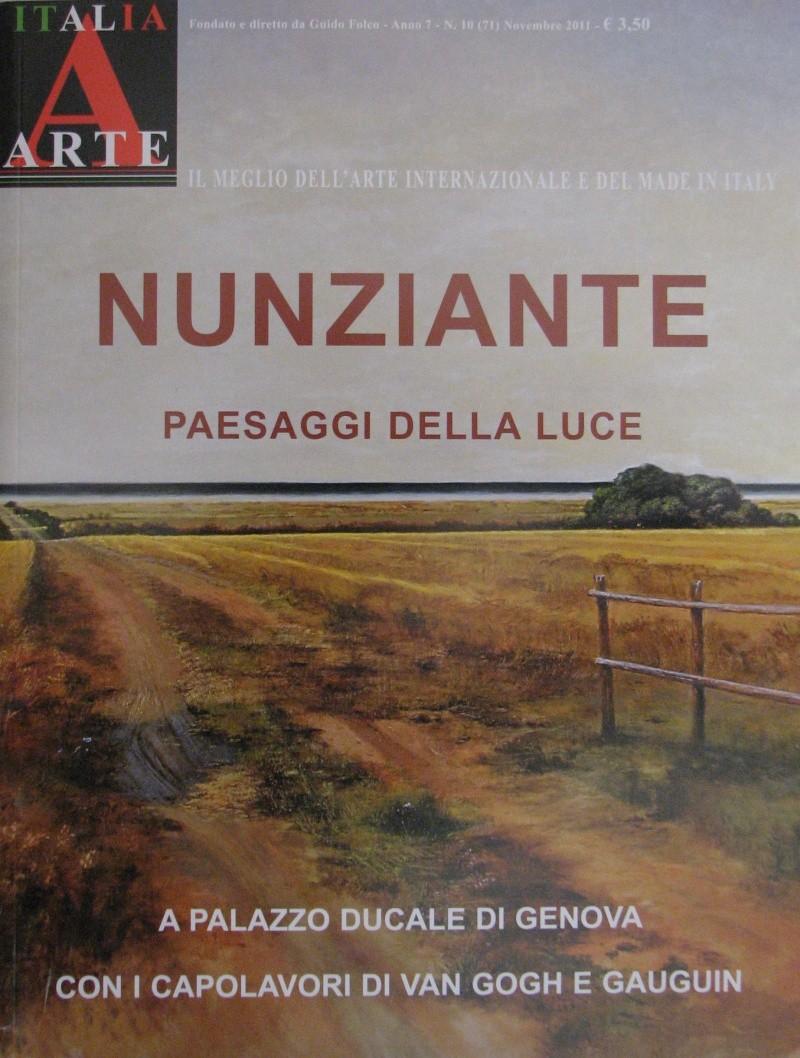 NUNZIANTE sul numero di Italia Arte di Novembre 2011 2011_113