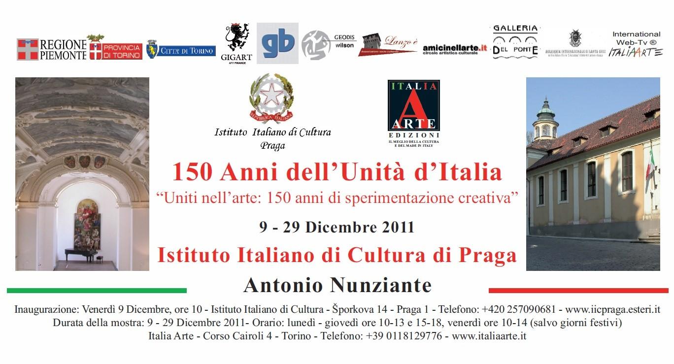 """MOSTRA A PRAGA: """"Uniti nell'Arte: 150 anni di sperimentazione creativa"""" 9-29 Dicembre 2011 2011pr11"""