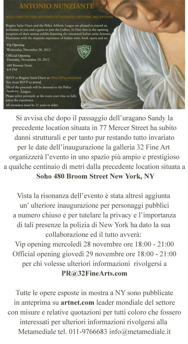 Nunziante a New York, dal 29/11/2012 201210