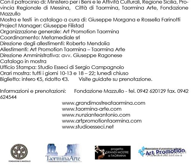 """""""Viaggio a Taormina"""" di Antonio Nunziante 4-30 Agosto 2012 Fondazione Mazzullo 21052010"""