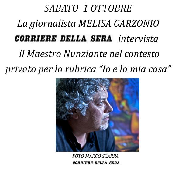 """1 OTTOBRE 2011: Intervista sul """"Corriere della sera"""" 29091110"""