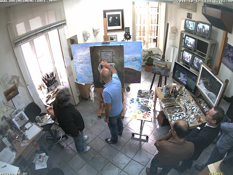 Marco Goldin in visita allo Studio Nunziante Cam_a_10