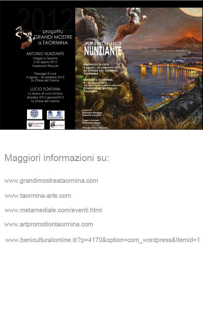 """""""Panorami di luce"""" di Antonio Nunziante 4 Agosto-30 Settembre 2012 Taormina Ex Chiesa del Carmine Cid_8310"""