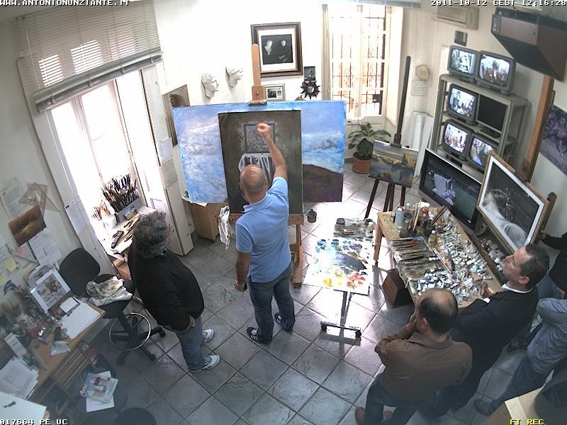 Marco Goldin in visita allo Studio Nunziante Goldin11