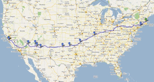 Road Trip - Mass to Cali       (not 56k friendly) Map11