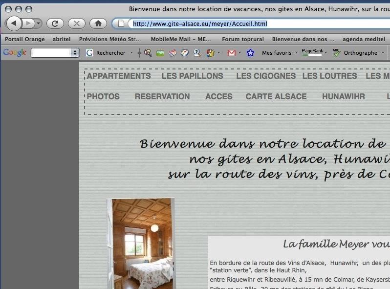 Titre des page dans le navigateur Page_w12