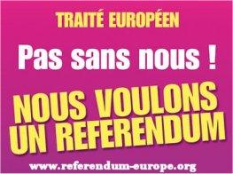 Europe : pas sans nous ! Appel des 200 pour un référendum sur le nouveau traité européen Refere10