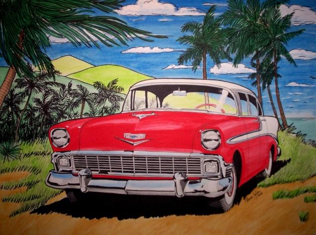 Dessin Chevrolet 56 5610