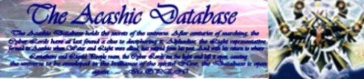 The Acashic Database