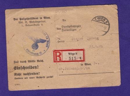 Österreich im III. Reich (Ostmark) Belege Dr1110