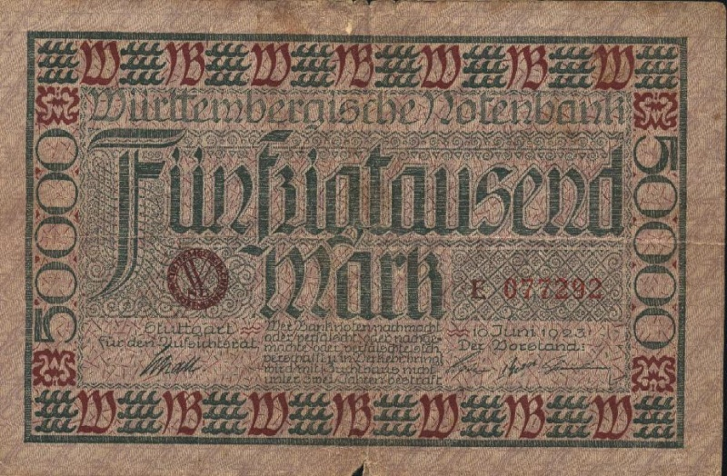 Billetes de Alemania Billet20