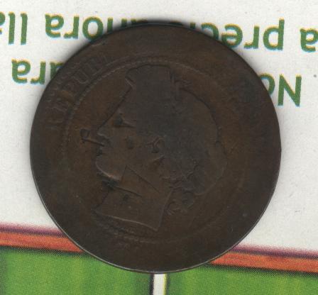 Francia, 10 centimes, Napoleon III, ¿1856? France10