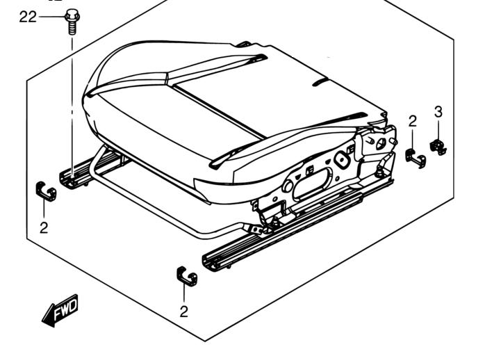 Front Seat Rail End Cap. Seat_b10