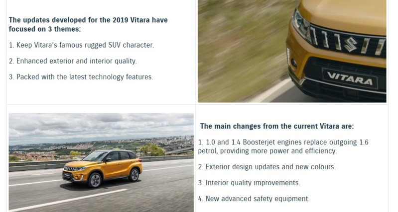2019 VITARA II PRICES AND SPECIFICATIONS Vitnew10
