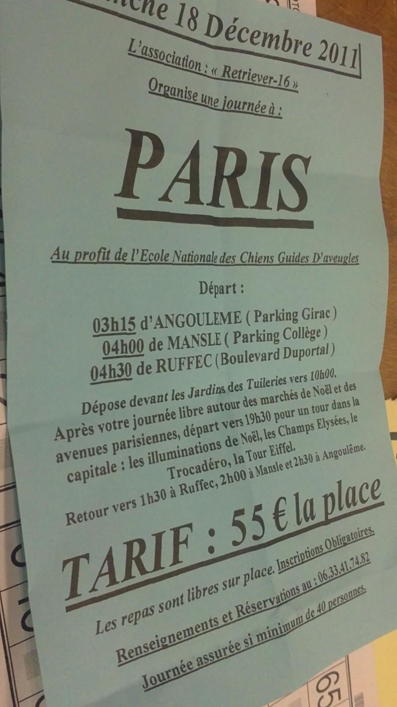 """L'association """"Retriever-16"""" organise une journée à Paris Le Dimanche 18 Décembre  12112010"""