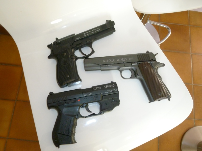 Beretta fs 92   Walther CP99   Tanfoglio 1911 Pistol10