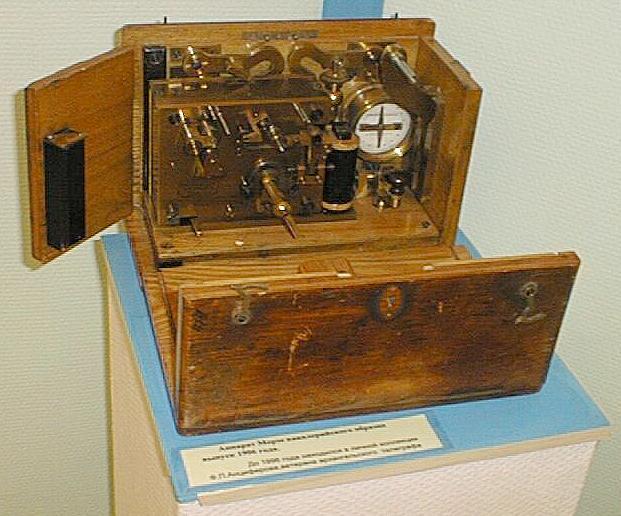 Интересный железнодорожный телеграфный аппарат SH конца XIX века из музея Севзаптелекома Cavalr11