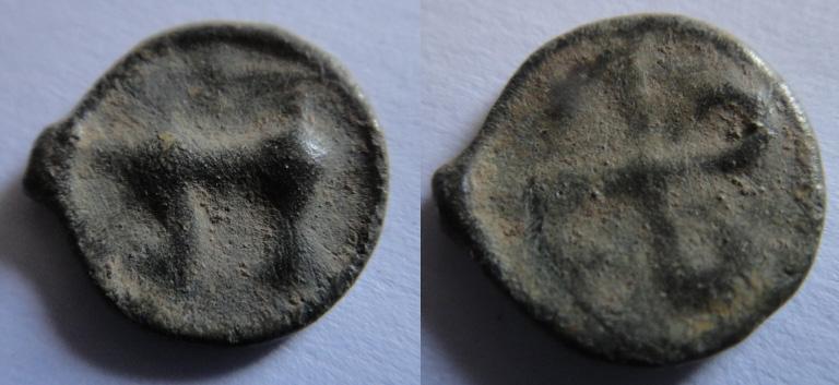 Potin au swastika (Volques Arécomiques ?) Potin11