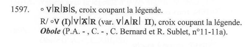 Obole de l'évêché de Viviers et Aimar III de la Voulte [WM n° 8429 et WM n° 8430] Sans_130