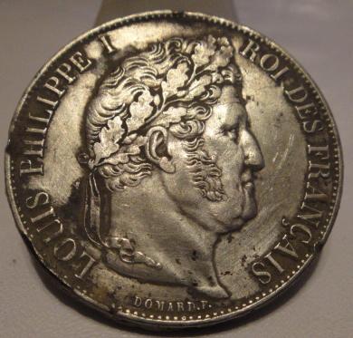 ECU LOUIS PHILIPPE I . 5Fr 1847 Sans_131