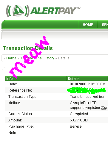 1st Payment. Thanks Admin 211