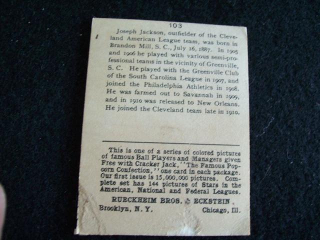 Joe Jackson Cracker Jack card Joe_0011