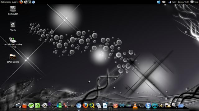 Linux Galiza 11.10 Oneiric Snapsh15
