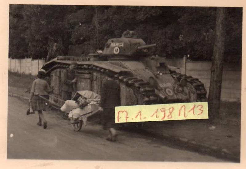 """[photo] le char B1bis """"Mulhouse"""" abandonné du côté d'Orléans le 15 Juin 1940 Gruppe10"""