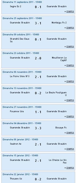 Résultats et Classements après la phase aller des matchs des Seniors A, B et C - Dimanche 22 janvier 2012 Sag_se24