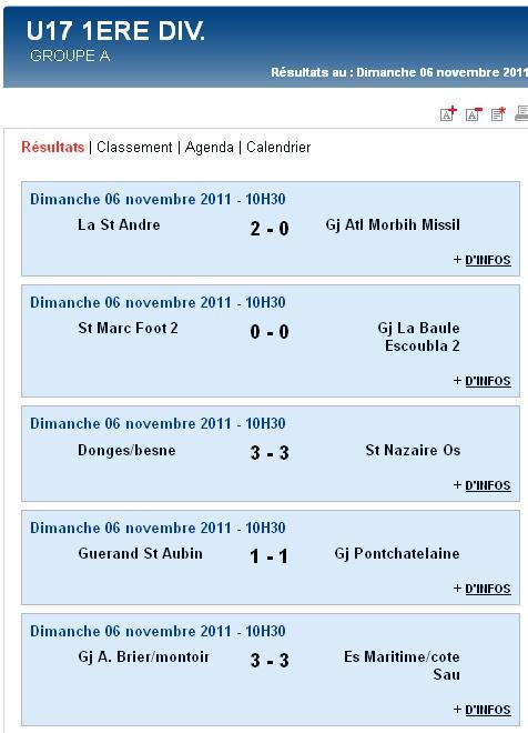 Résultats et classements des U17,  U15, U14 Ligue et des U13 A et B (dimanche 06 novembre 2011) Sag_u110