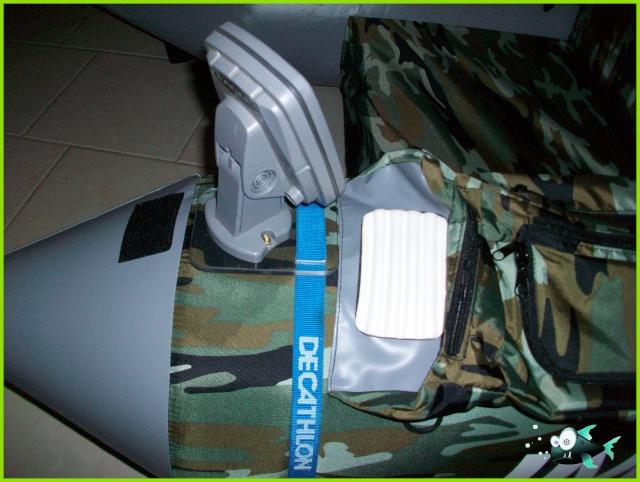 Support écho-sondeur pour float tube 100_2925