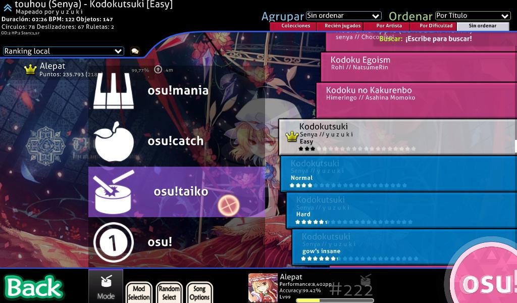 [Tutorial] Cómo Jugar Osu!Taiko Screen12
