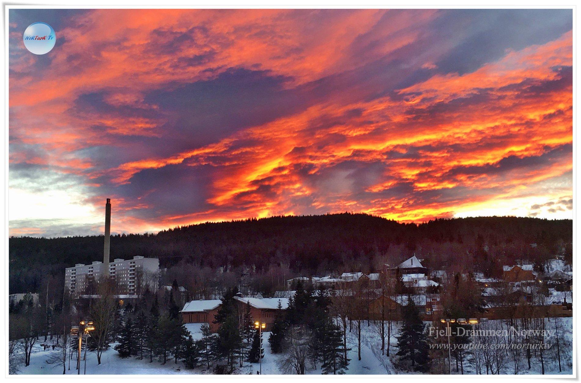 Günbatımı Aralık 2018-Drammen City Norway 48252710
