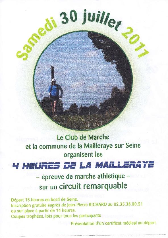 le 30juillet : 4 heures de  La Mailleraye Compet10