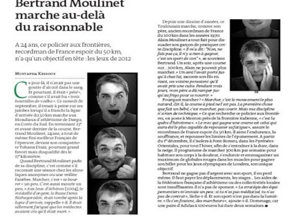Bertrand Moulinet dans Le Monde Prasen10