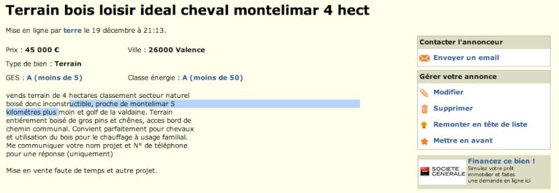 4 ha secteur Montélimar Captur25