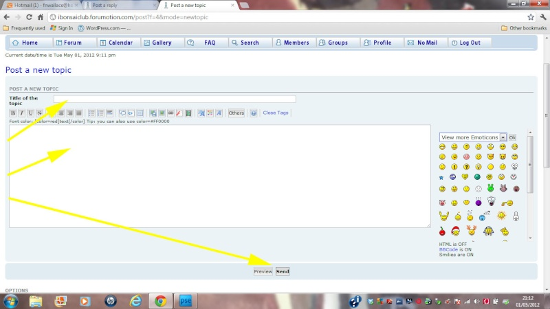 f. Getting the best from your forum Part Three: Posting / Creating new Topics New_to11