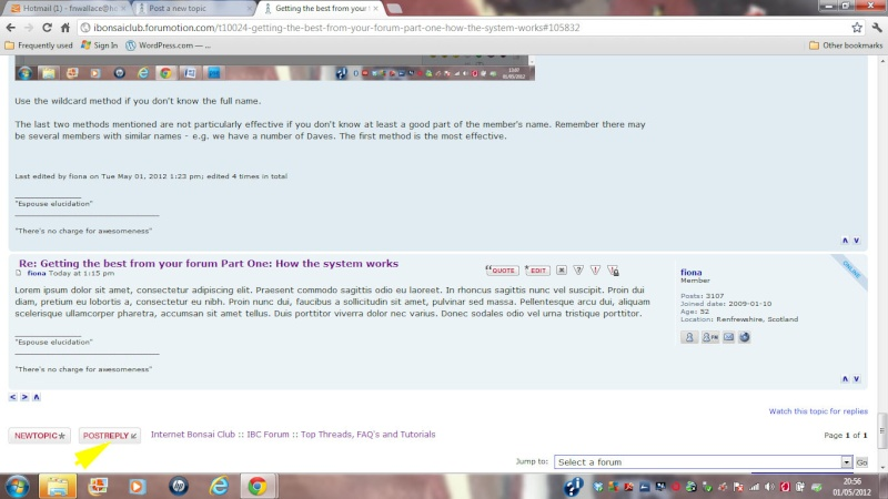f. Getting the best from your forum Part Three: Posting / Creating new Topics Post_r10