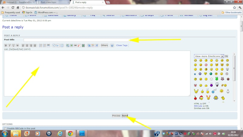 f. Getting the best from your forum Part Three: Posting / Creating new Topics Reply_10