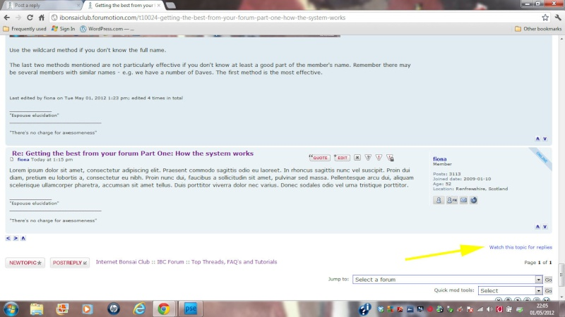 e. Getting the best from your forum Part Two: The Forum (where it all happens) Watch_10